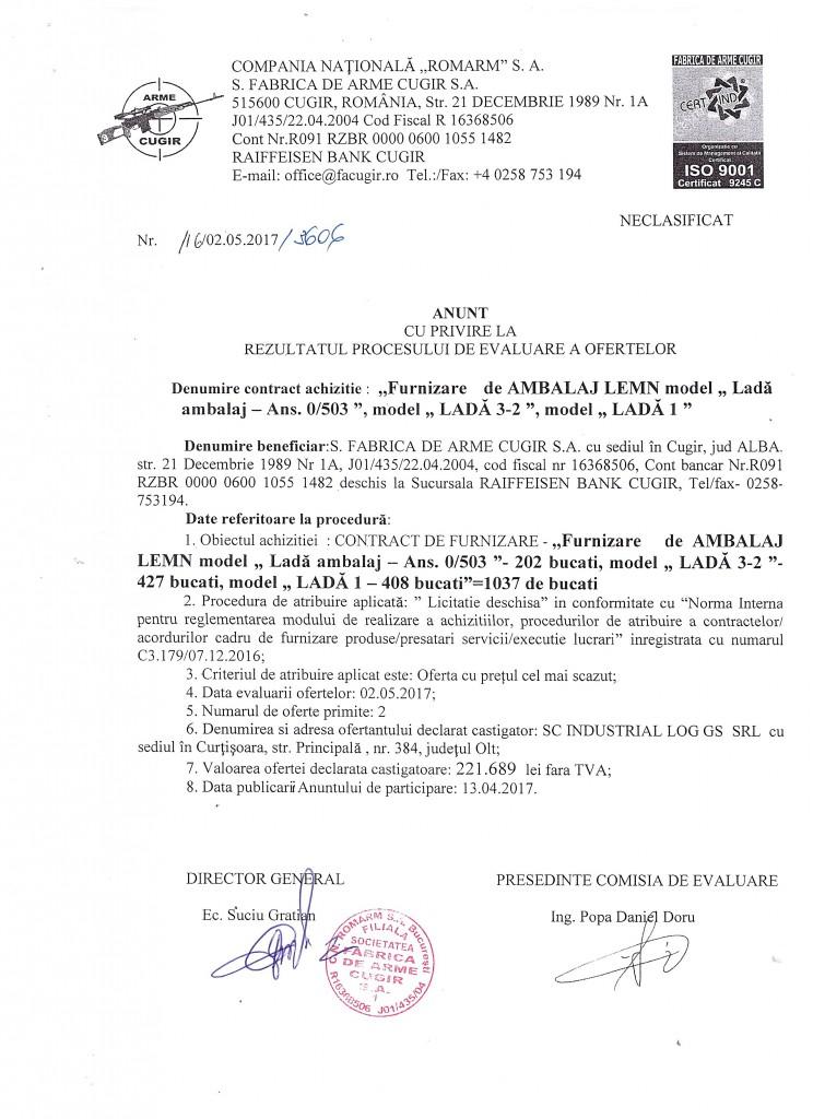 Achizitie AMBALAJ LEMN, model LADA 1