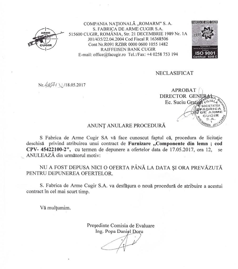 anunt anulare componente lemn 17.05.2017