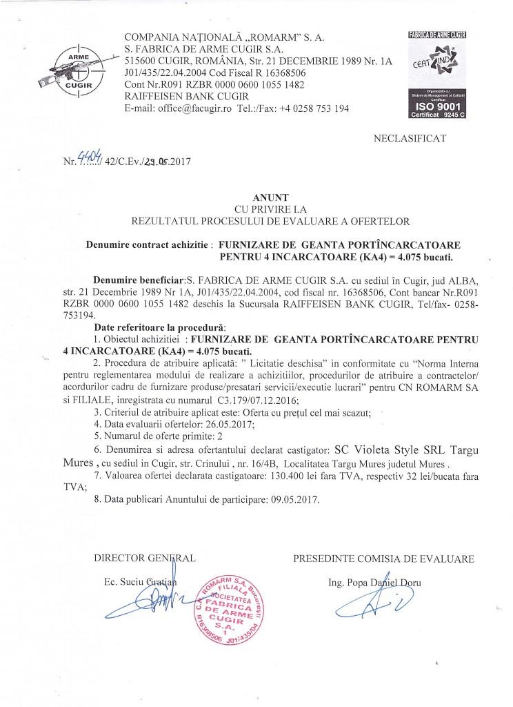 atribuire contract geanta ka4